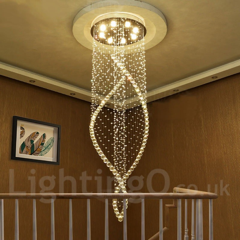 8 Lights Modern Led Crystal Ceiling Pendant Light Indoor
