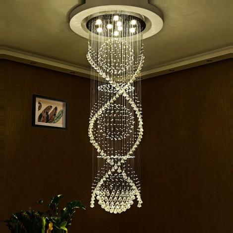 Modern Led Crystal Ceiling Pendant Light Indoor