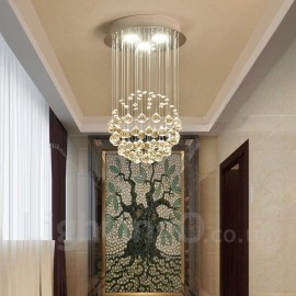 3 Light Modern LED Crystal Ceiling Pendant Light Indoor Chandeliers Home Hanging Down Lighting Lamps Fixtures