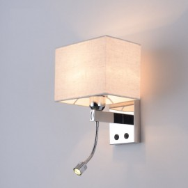 The Modern Hotel Room Reading Creative Fabric Corridor Balcony Led Bedside Lamp Wall Light