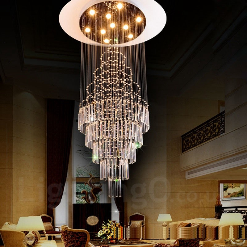 Modern Indoor Ceiling Lights : Lights modern led crystal ceiling pendant light indoor