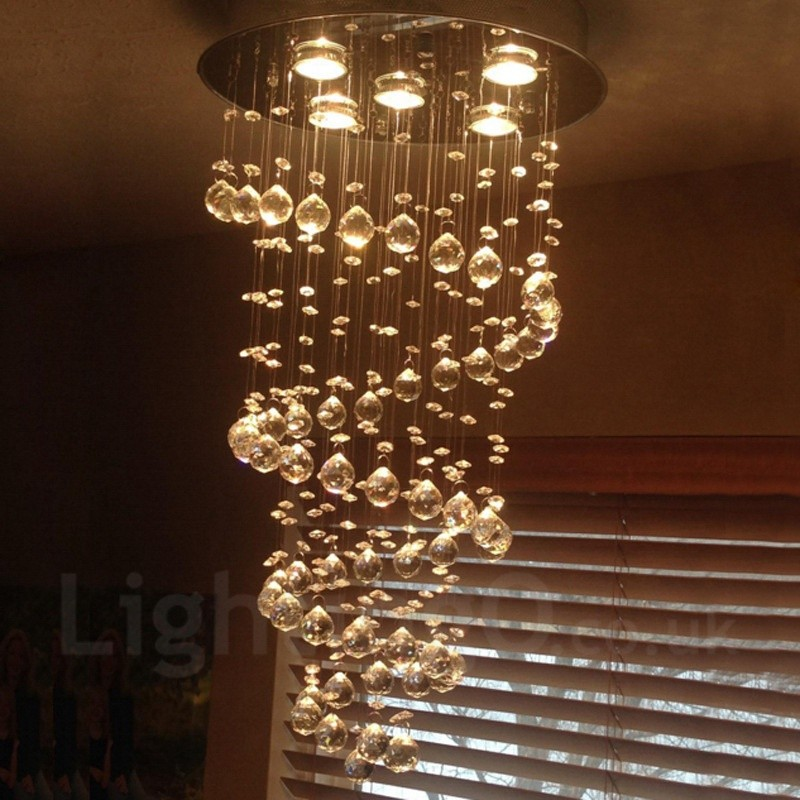 5 lights modern led crystal ceiling pendant light indoor chandeliers 5 lights modern led crystal ceiling pendant light indoor chandeliers home hanging down lighting lamps fixtures mozeypictures Gallery