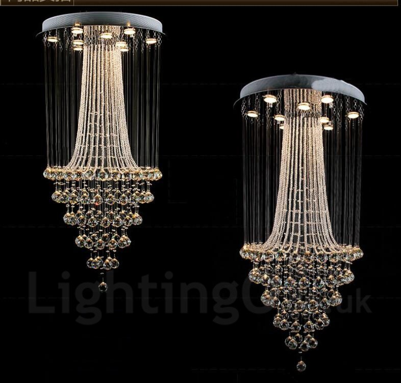 9 lights modern led crystal ceiling pendant light indoor chandeliers 9 lights modern led crystal ceiling pendant light indoor chandeliers home hanging down lighting lamps fixtures aloadofball Choice Image