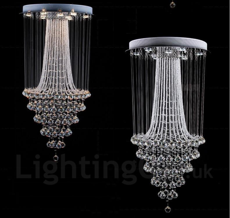 9 lights modern led crystal ceiling pendant light indoor chandeliers 9 lights modern led crystal ceiling pendant light indoor chandeliers home hanging down lighting lamps fixtures mozeypictures Images