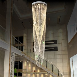 9 Lights Modern LED Crystal Ceiling Pendant Light Indoor Chandeliers Home Hanging Down Lighting Lamps Fixtures