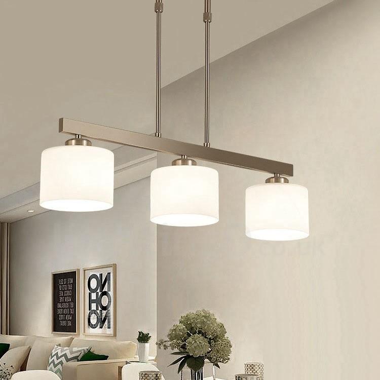 3 Lights Modern Chrome Pendant Light