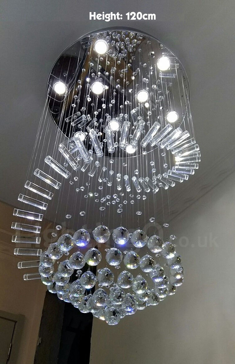 9 lights modern led k9 crystal ceiling pendant light indoor chandeliers home hanging down lighting lamps fixtures