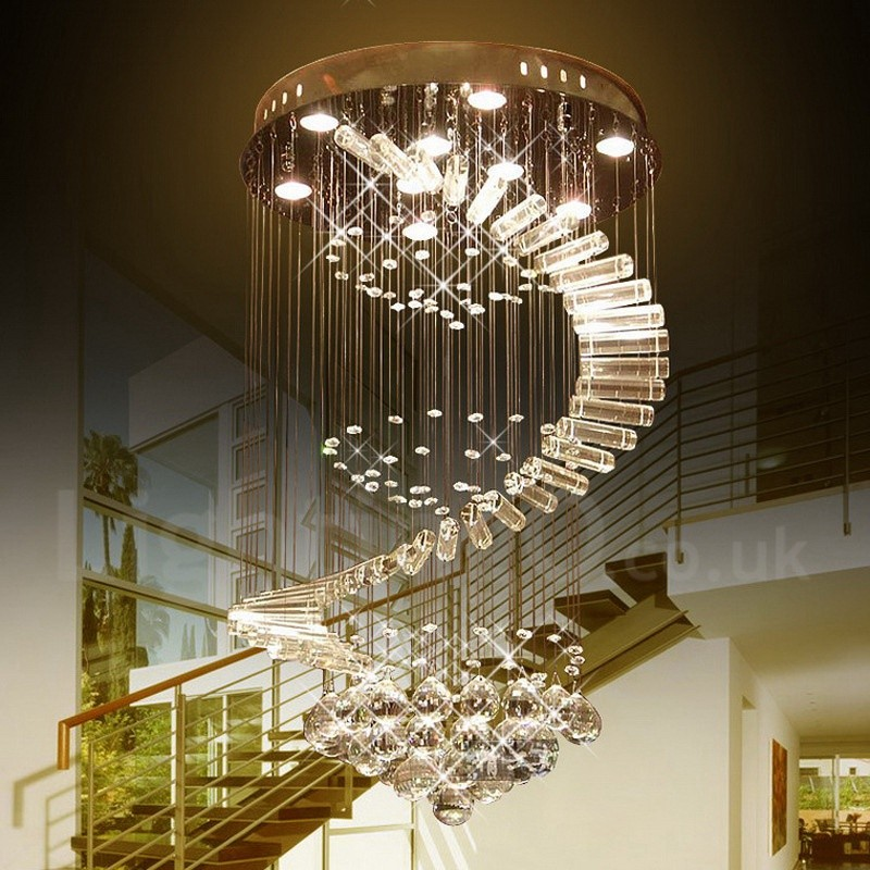 9 Lights Modern Led K9 Crystal Ceiling Pendant Light