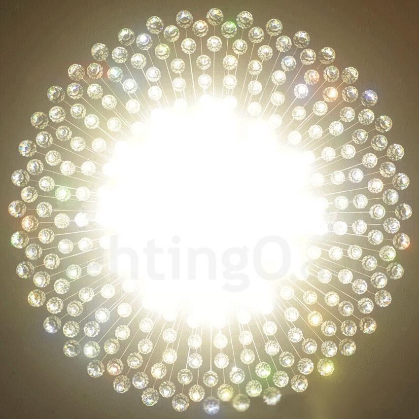 21 Lights Modern LED K9 Crystal Ceiling Pendant Light