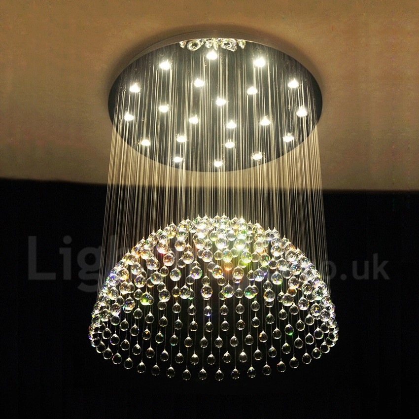 21 Lights Modern Led K9 Crystal Ceiling Pendant Light