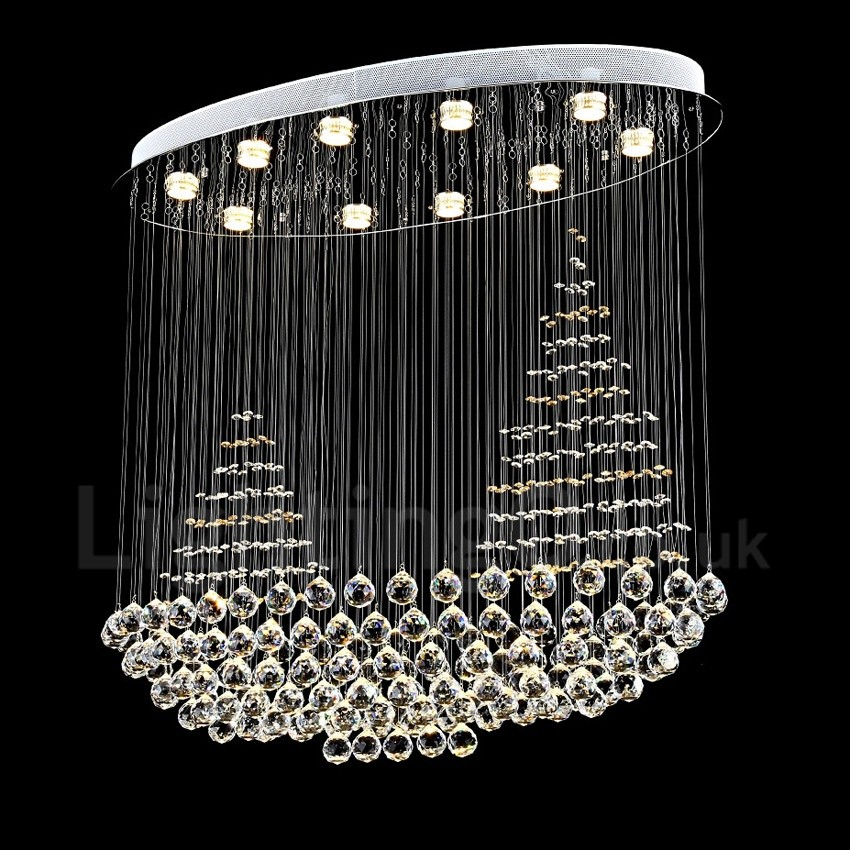 FRIXCHUR Mini Crystal Chandelier Shade 3 Tiers Crystal Pendant Lighting Fixture Flush Mount Ceiling Light Decoration Adjustable Hanging Cord for