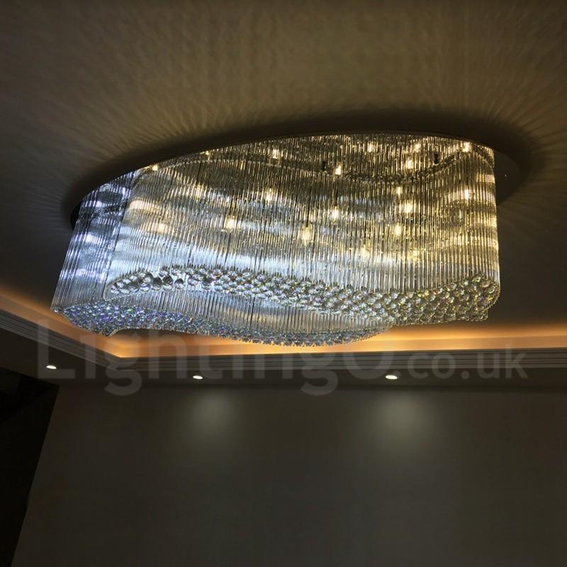 Modern LED K9 Crystal Ceiling Pendant Light Indoor