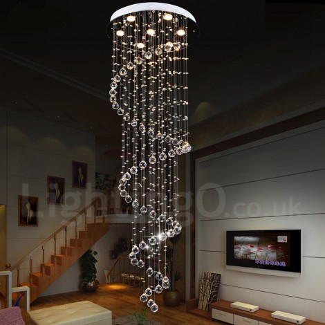 7 Lights Modern Led K9 Crystal Ceiling Pendant Light