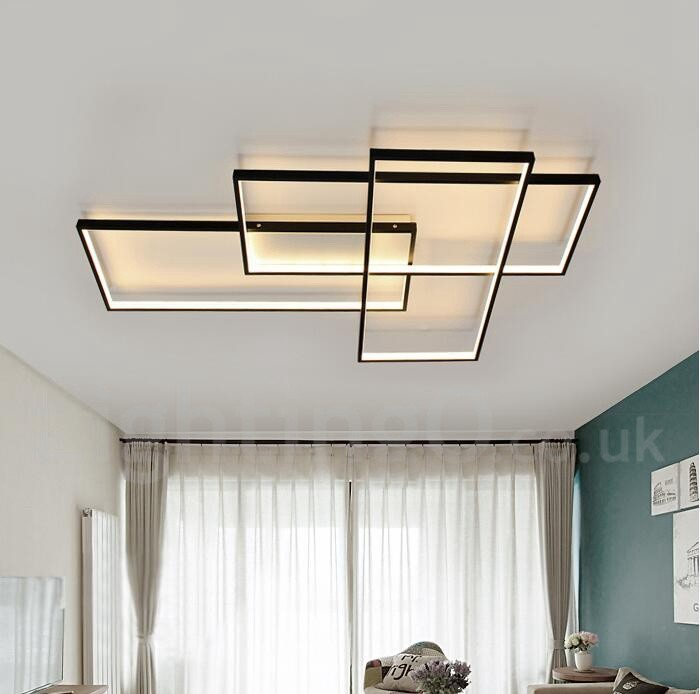Led Modern Comtemporary Alumilium Painting Ceiling Light
