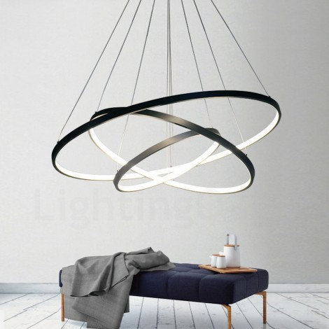 Dimmable 90w Pendant Light With Remote Control Modern