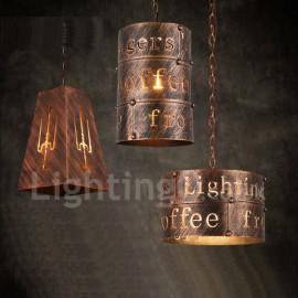 1 Light Retro / Vintage Pendant Light for Living Room, Study, Bedroom, Kitchen, Dining Room, Bar, Cafe, Coffee House Pendant Lam