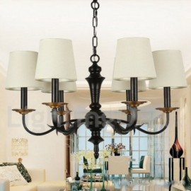 6 Light Dining Room Living Room Bedroom Rustic Retro Candle Style Chandelier
