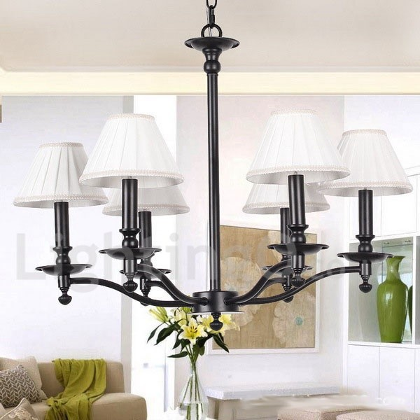 Rustic Chandeliers For Dining Room: 6 Light Living Room Dining Room Bedroom Retro Rustic