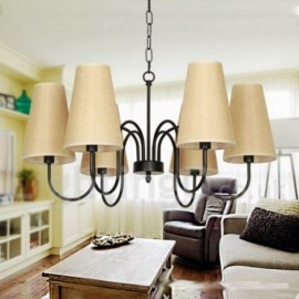 6 Light Retro Contemporary Living Room Dining Room Bedroom Candle Style Chandelier