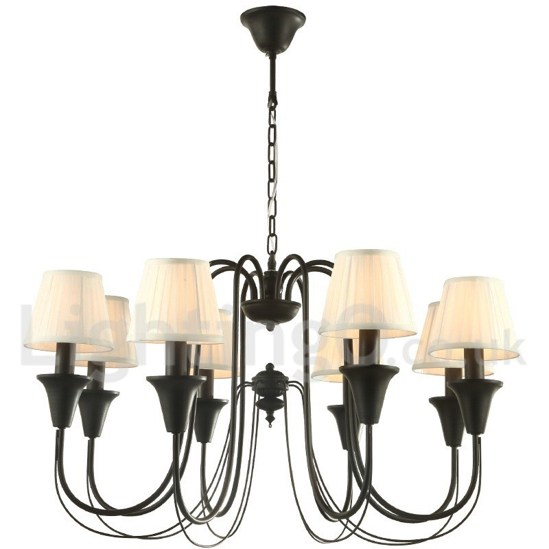Chic Dining Room Chandeliers: 8 Light Black Living Room Bedroom Dining Room Retro Candle