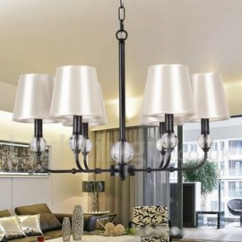 6 Light Rustic Retro Contemporary Living Room Dining Room Bedroom Candle Style Chandelier