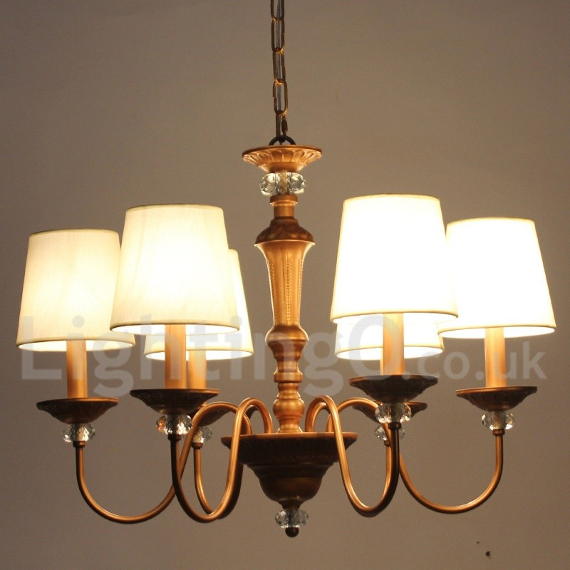 Rustic Chandeliers For Dining Room: 6 Light Rustic Black Living Room Bedroom Dining Room Retro