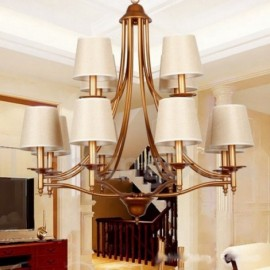 12 Light Rustic Retro Living Room Bedroom Mediterranean Style, Dining Room Candle Style Chandelier