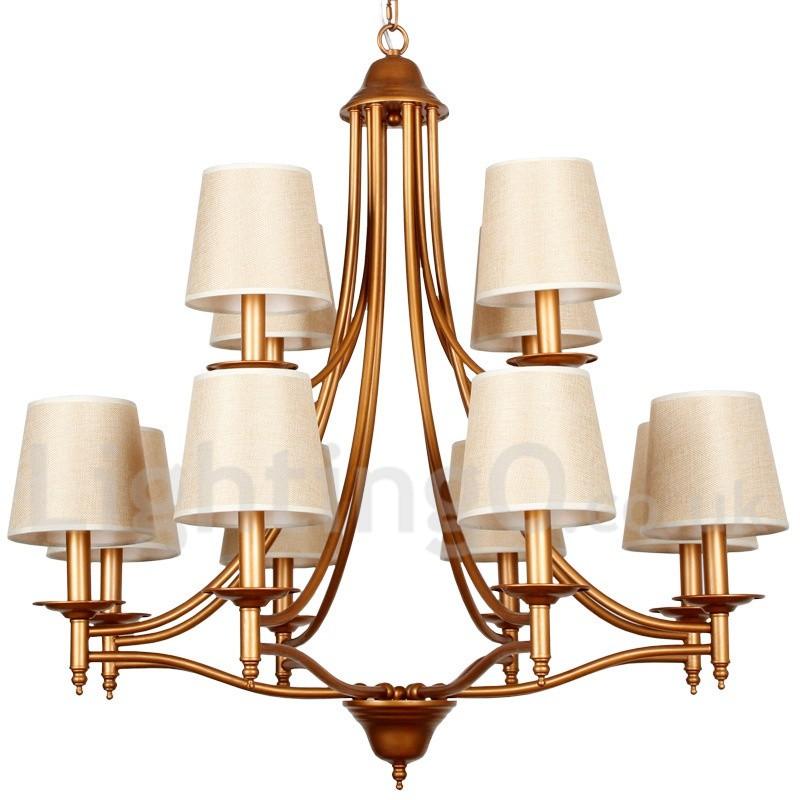 Rustic Chandeliers For Dining Room: 12 Light Rustic Retro Living Room Bedroom Mediterranean