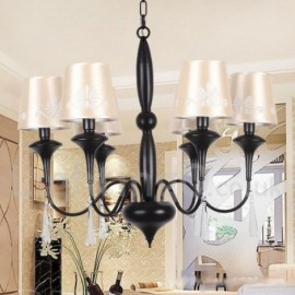 6 Light Mediterranean Style, Living Room Dining Room Bedroom Candle Style Chandelier