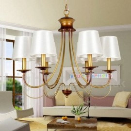 6 Light Rustic Living Room Dining Room Bedroom Mediterranean Style, Modern / Contemporary Candle Style Chandelier