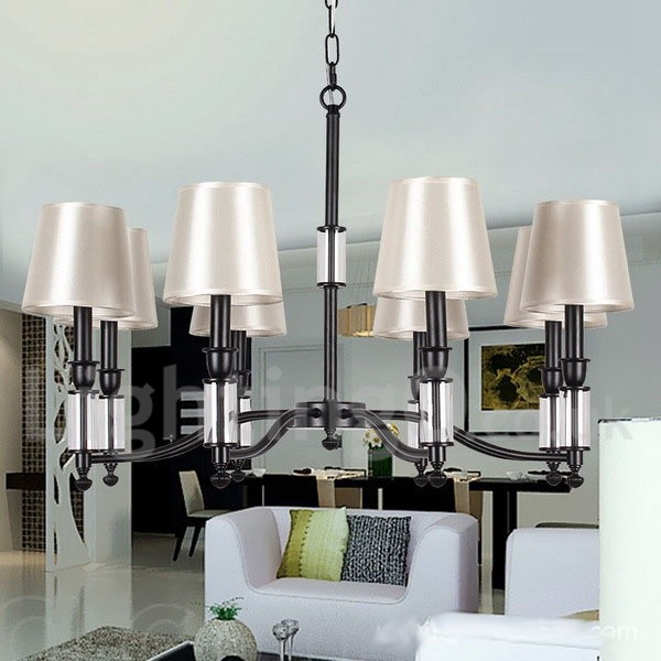 8 Light Black Living Room Dining Room Retro Contemporary