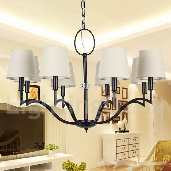 8 light modern contemporary living room dining room candle style chandelier - Chandeliers for dining room contemporary style ...