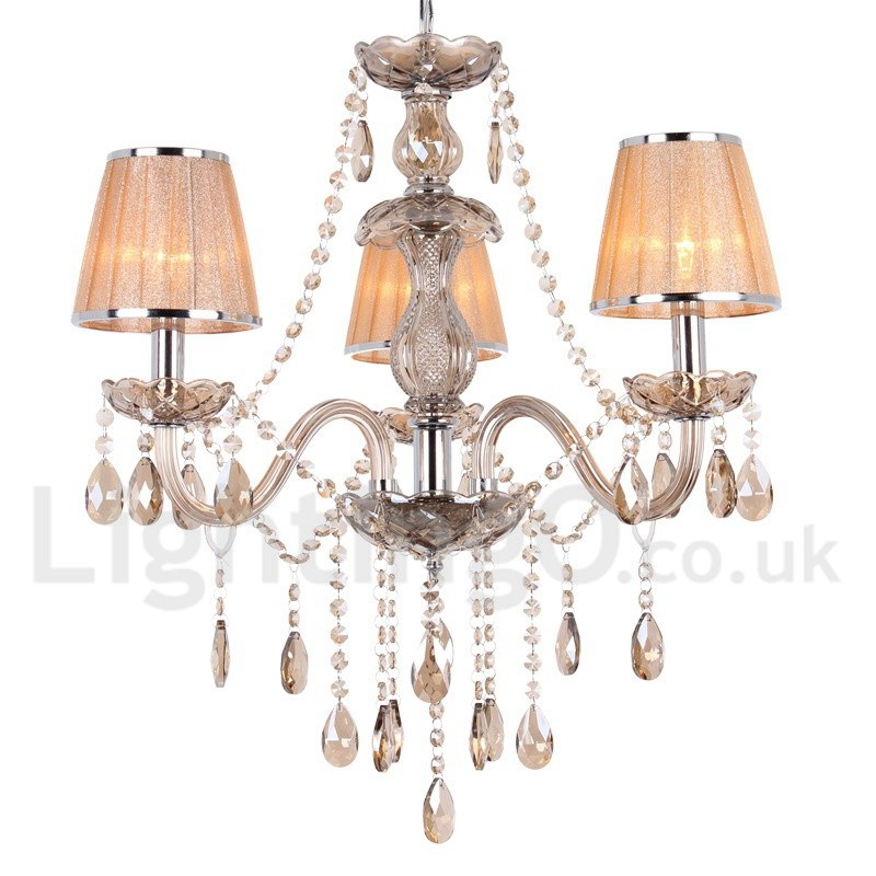 3 light dining room bedroom living room k9 crystal candle Crystal candle chandelier