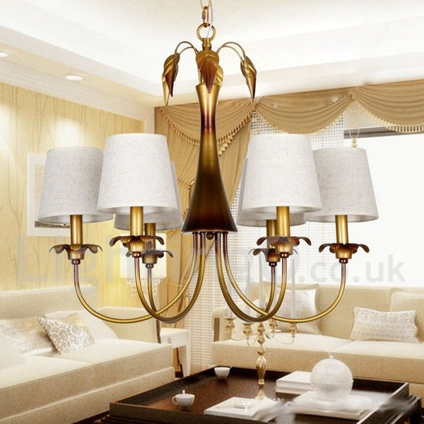 6 light modern contemporary rustic living room bedroom for Contemporary chandeliers for living room