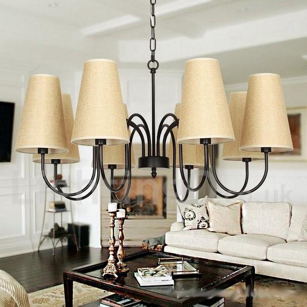 Mediterranean Style Lighting: 8 Light Contemporary Rustic Mediterranean Style, Living