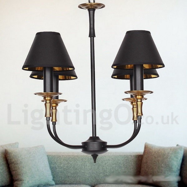 4 Light Retro Contemporary Living Room Dining Room Bedroom  : 4 light retro contemporary living room dining room bedroom candle style chandelier from www.lightingo.co.uk size 600 x 600 jpeg 55kB