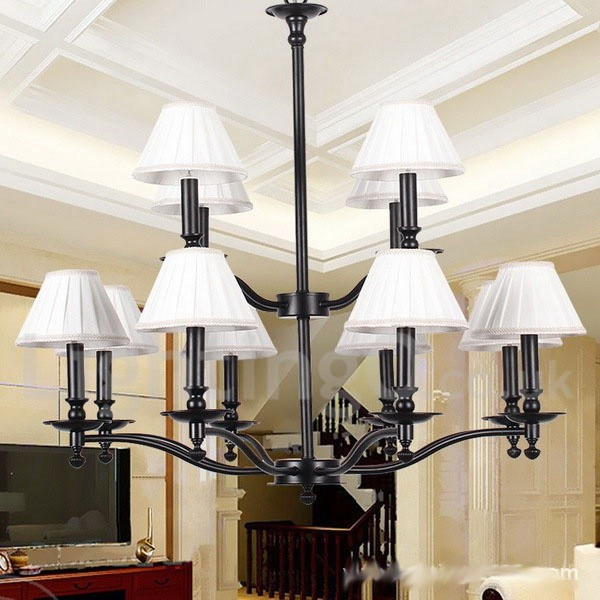 Rustic Chandeliers For Dining Room: 12 Light Retro Living Room Dining Room Bedroom Rustic