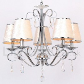 5 Light Contemporary Dining Room Bedroom Living Room K9 Crystal Candle Style Chandelier