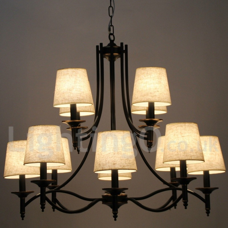 Rustic Chandeliers For Dining Room: 12 Light Retro Living Room Bedroom Dining Room Study Room