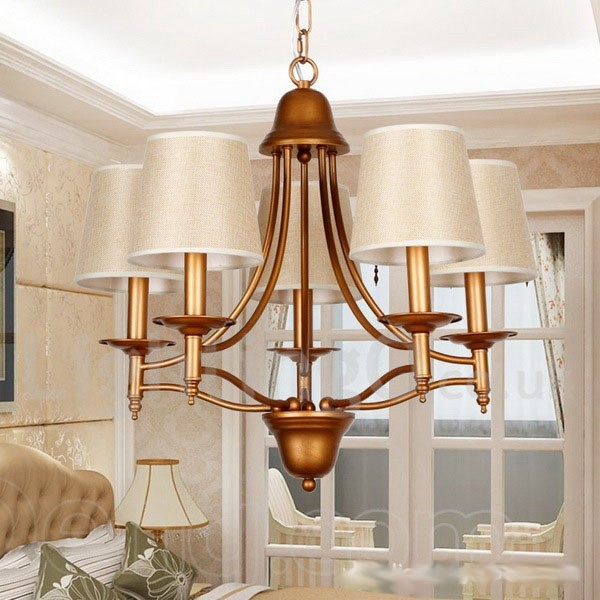 Rustic Chandeliers For Dining Room: 5 Light Rustic Retro Living Room Bedroom Mediterranean