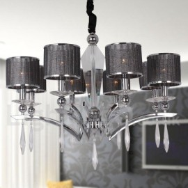 8 Light Modern / Contemporary Dining Room Bedroom Living Room Candle Style Chandelier