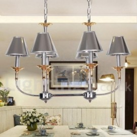 6 Light Modern / Contemporary Chrome Living Room Dining Room Bedroom Candle Style Chandelier