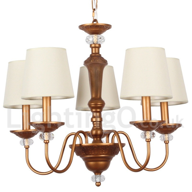 Rustic Chandeliers For Dining Room: 5 Light Rustic Black Living Room Bedroom Dining Room Retro