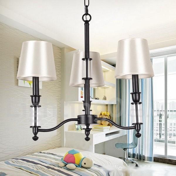 Chic Dining Room Chandeliers: 3 Light Black LED Living Room Dining Room Retro