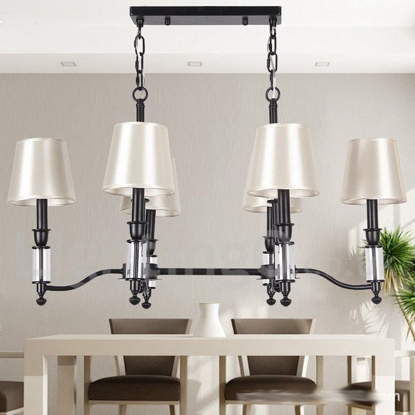 Rustic Chandeliers For Dining Room: 6 Light Rustic Black Living Room Dining Room Bedroom Retro