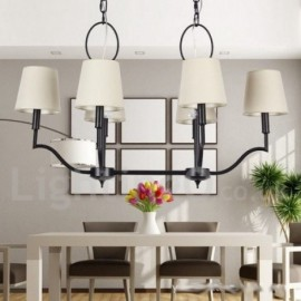 6 Light Modern / Contemporary Living Room Dining Room Bedroom Candle Style Chandelier
