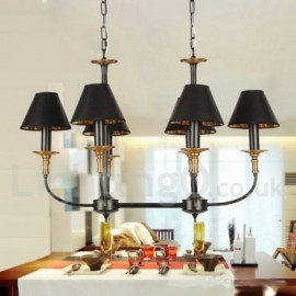 6 Light Living Room Retro Contemporary Dining Room Bedroom Candle Style Chandelier