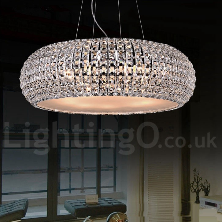 Modern Led K9 Crystal Ceiling Pendant Light Indoor