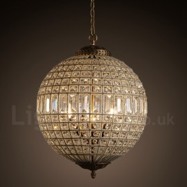 Globe Modern LED K9 Crystal Ceiling Pendant Light Indoor Chandeliers Home Hanging Down Drum Lighting Lamps Fixtures
