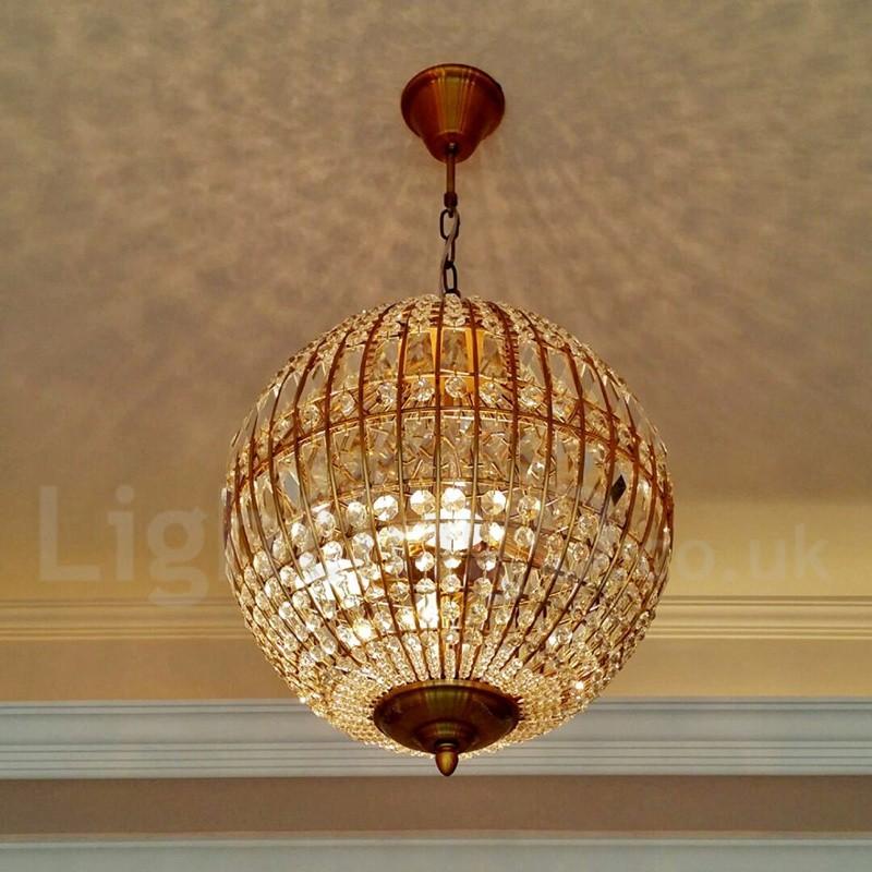 Globe Modern Led K9 Crystal Ceiling Pendant Light Indoor